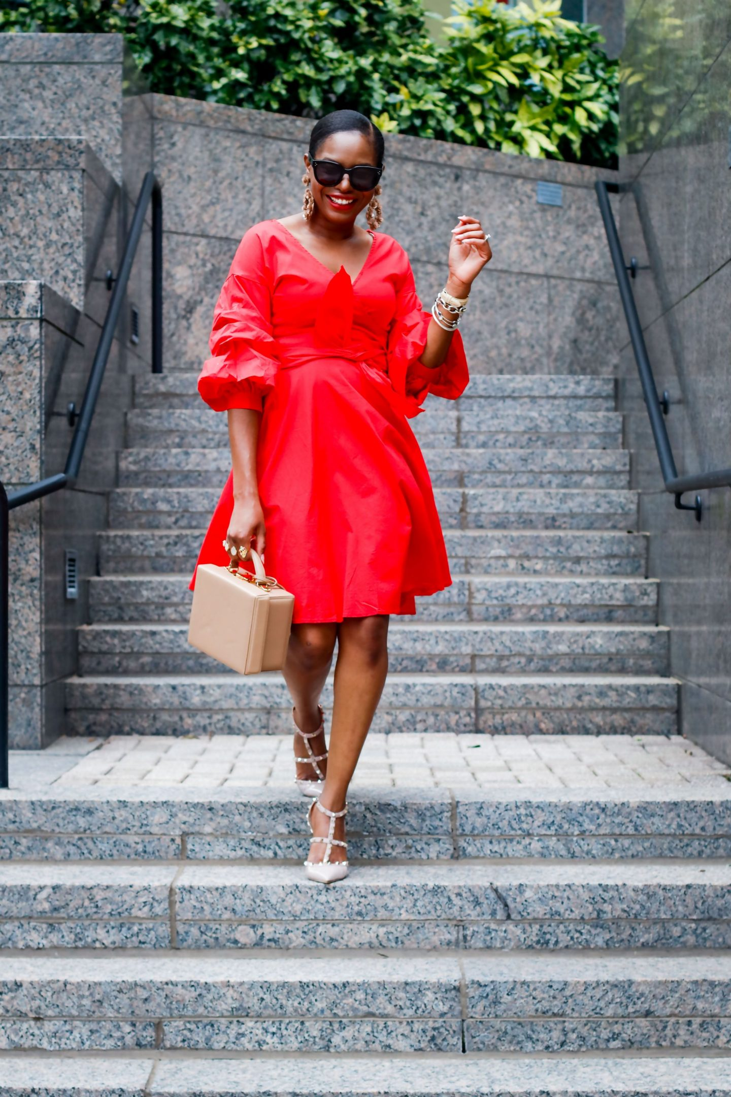 THE RED WRAP DRESS