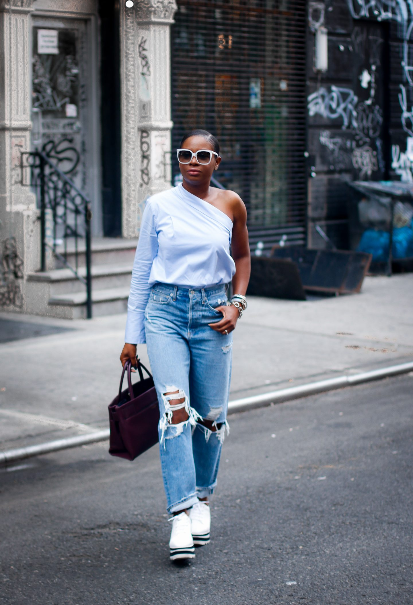 one shoulder top for the fall fashion season