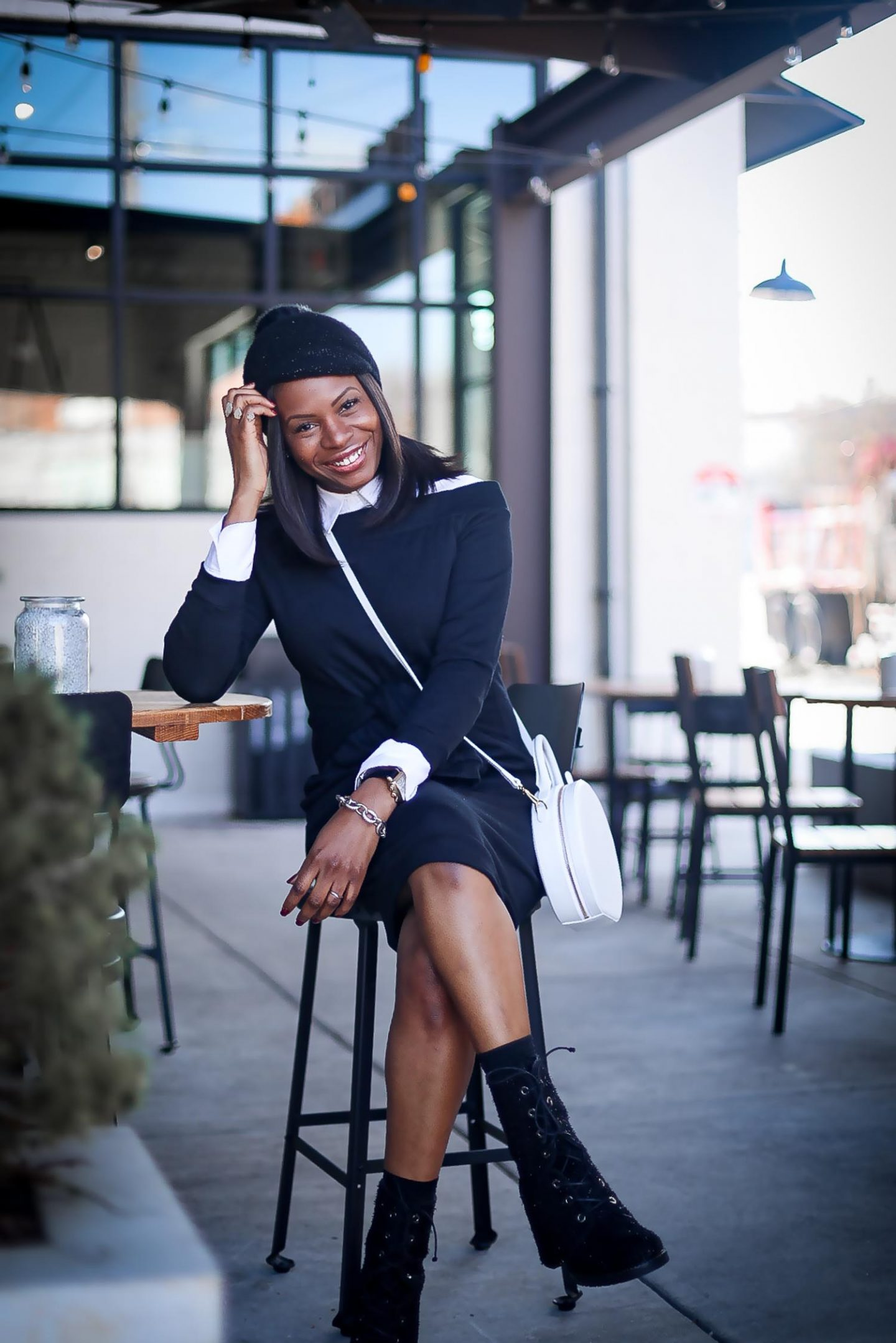 HOW TO MAKE A SWEATSHIRT DRESS AND COMBAT BOOTS CHIC