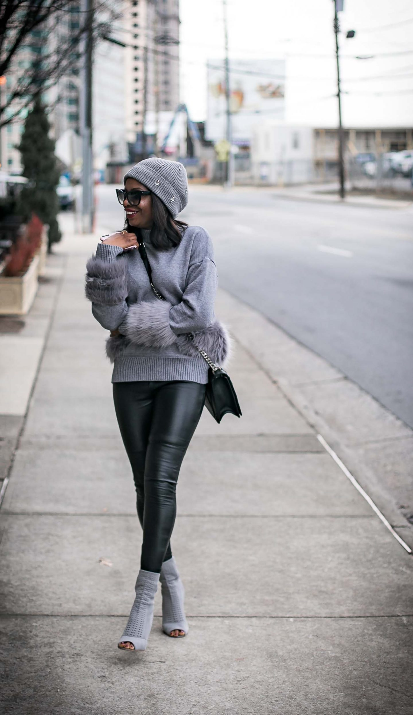 bcc4d66cf16506 In today's look I matched my pair which is made out of lambskin with a fur  detailed sweater. Lambskin pants are extremely thin, making them flexible  and ...