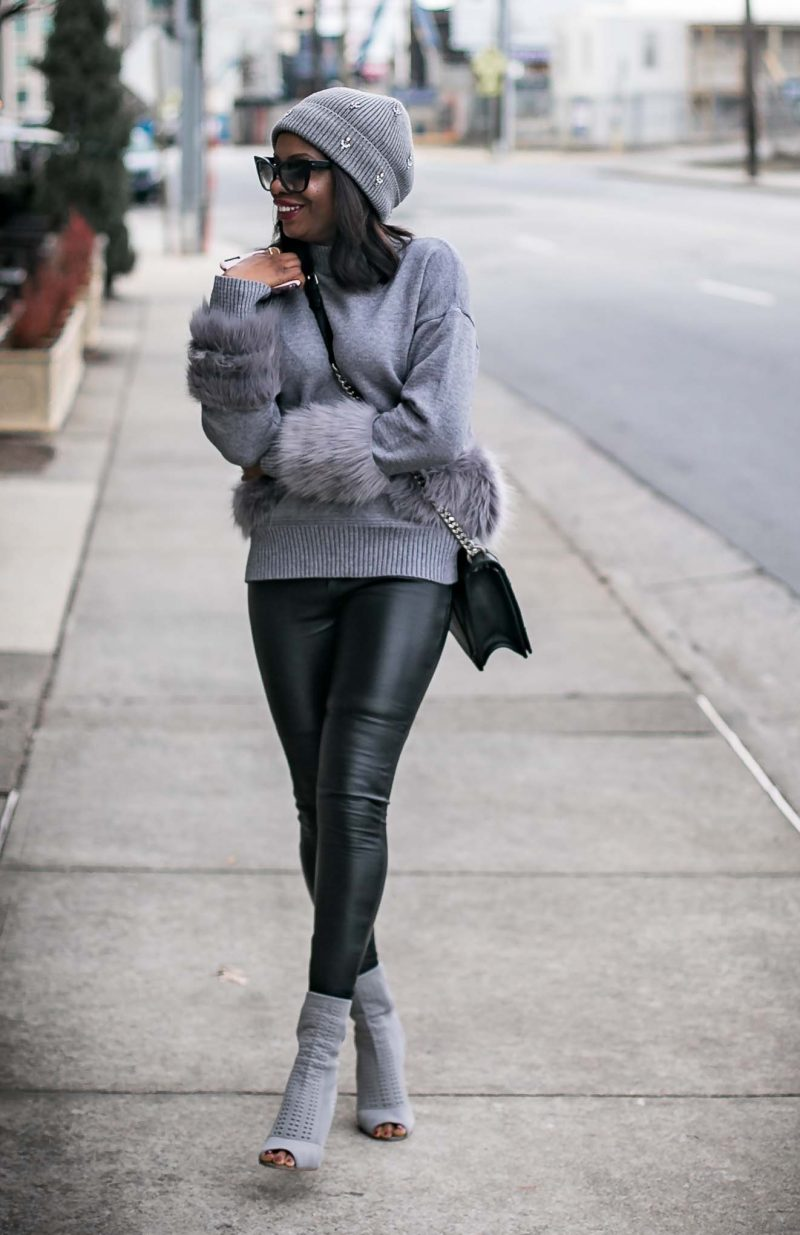 LEATHER LEGGINGS AND FUR SWEATER // WHY YOU SHOULD INVEST IN LEATHER LEGGINGS