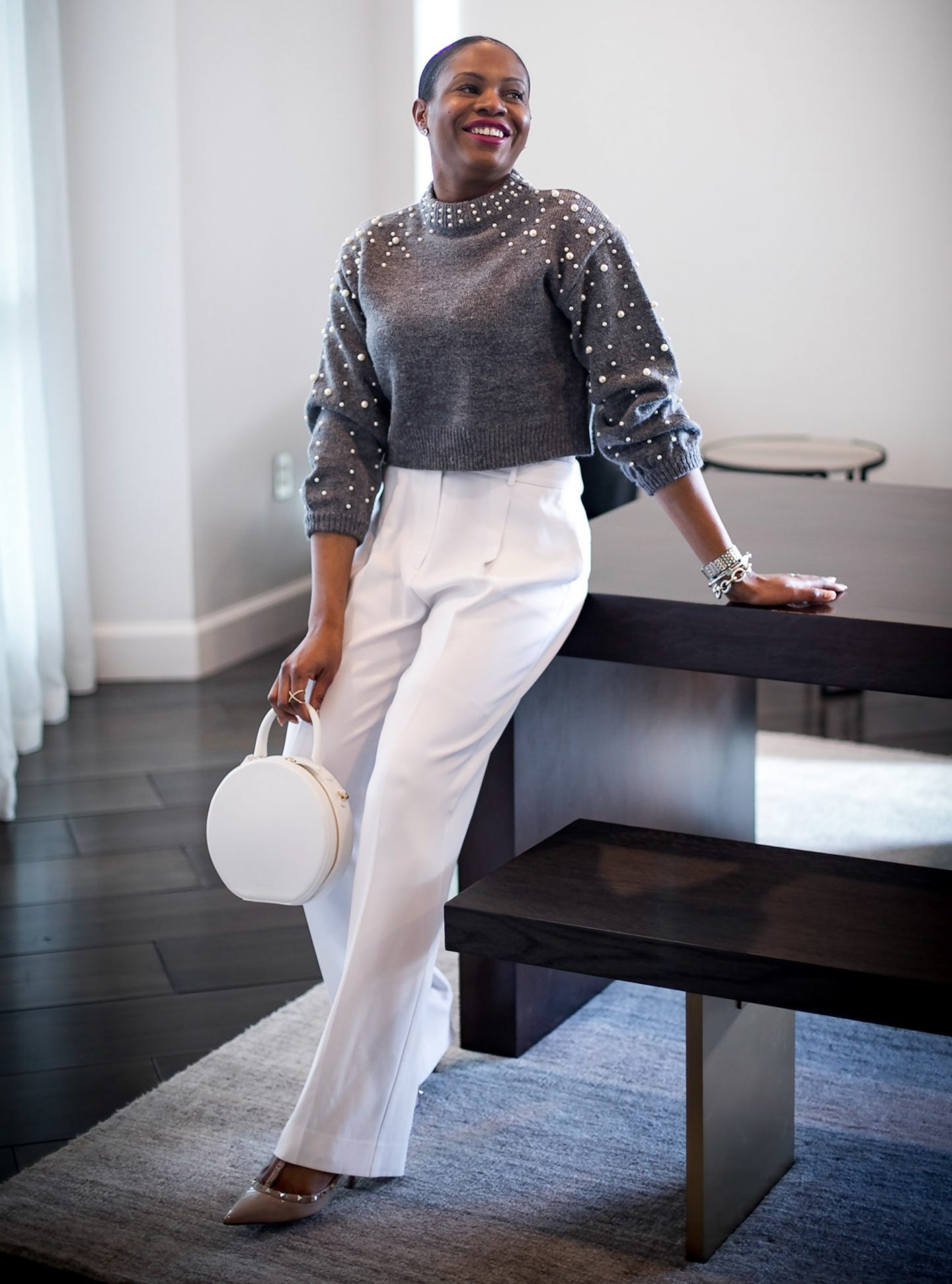 HOW TO MAKE AN INEXPENSIVE PIECE LOOK LUXE // CROP SWEATER & WIDE-LEG PANTS