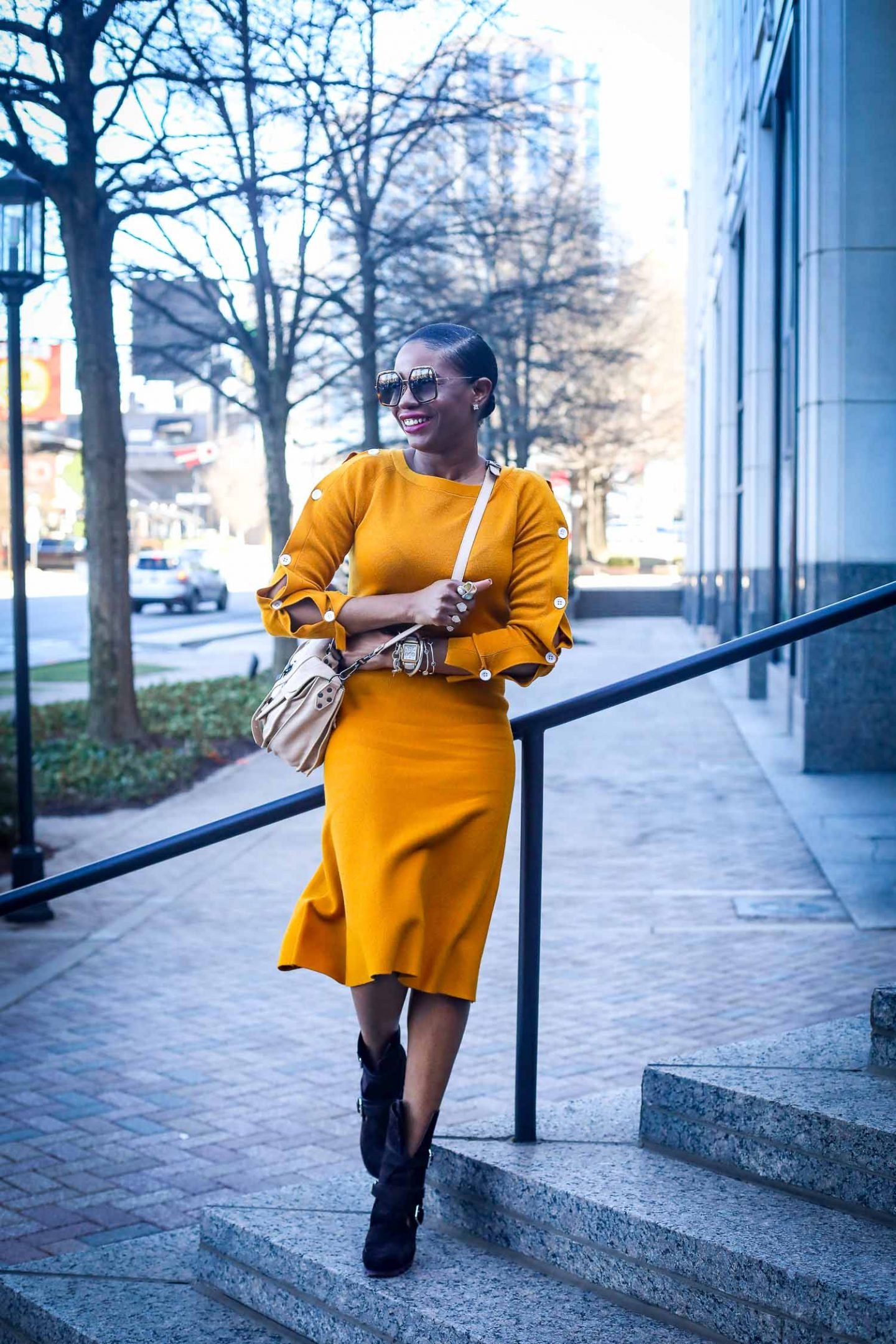 Ann Taylor mustard yellow knit set