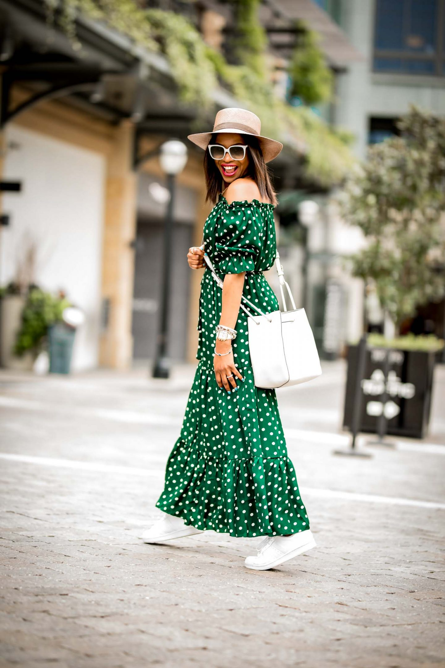 Polka Dots Spring Dress And How To Make It Modern And On Trend