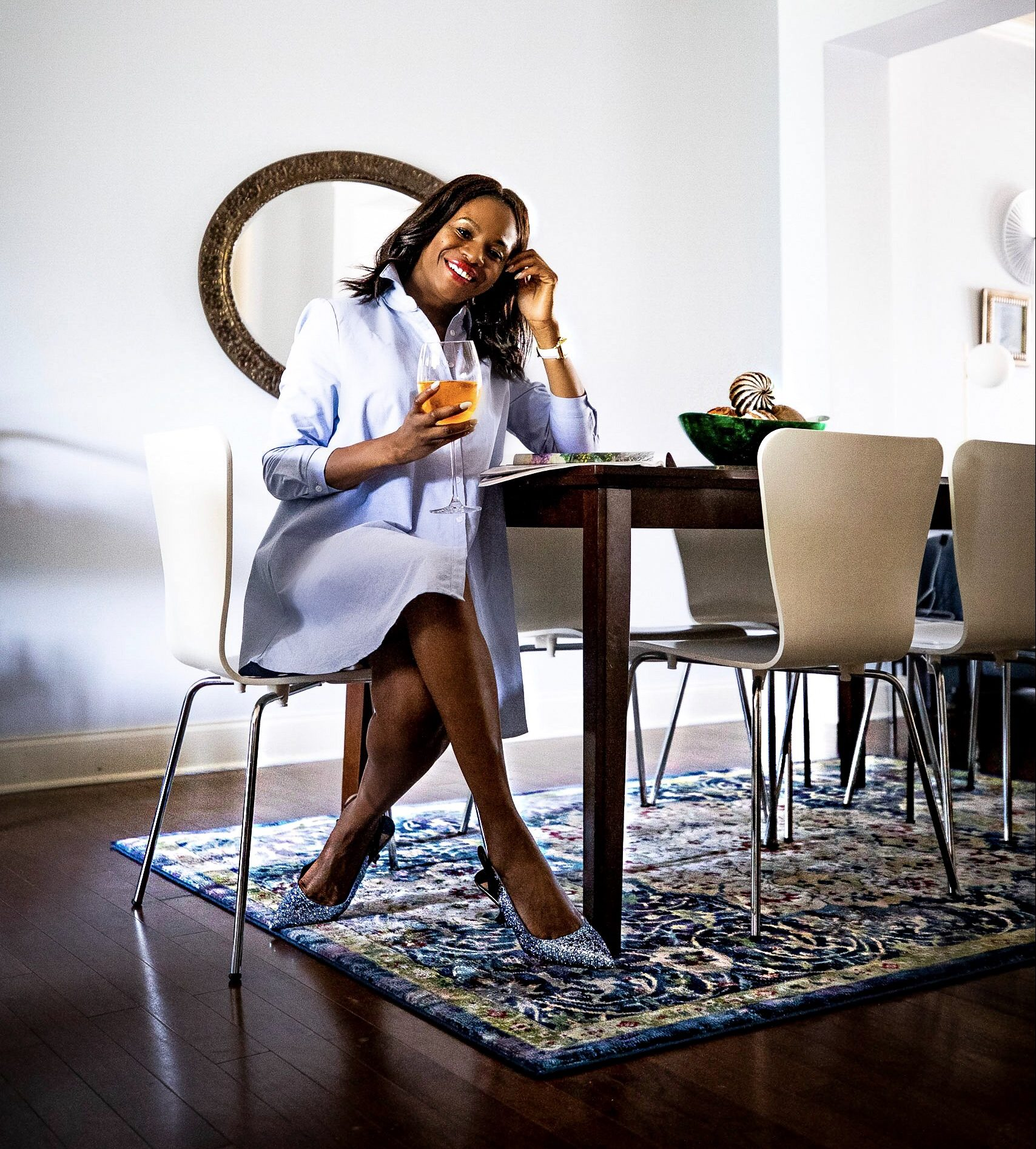 Atlanta Fashion and Lifestyle blogger Monica Awe-Etuk reveals how she transformed her home with rugs from Nourison. Home decor blog.