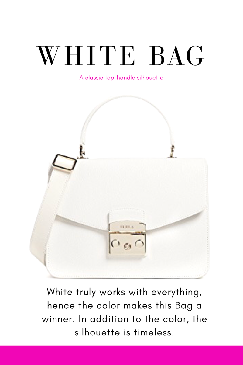 white furla tote with cross body strap