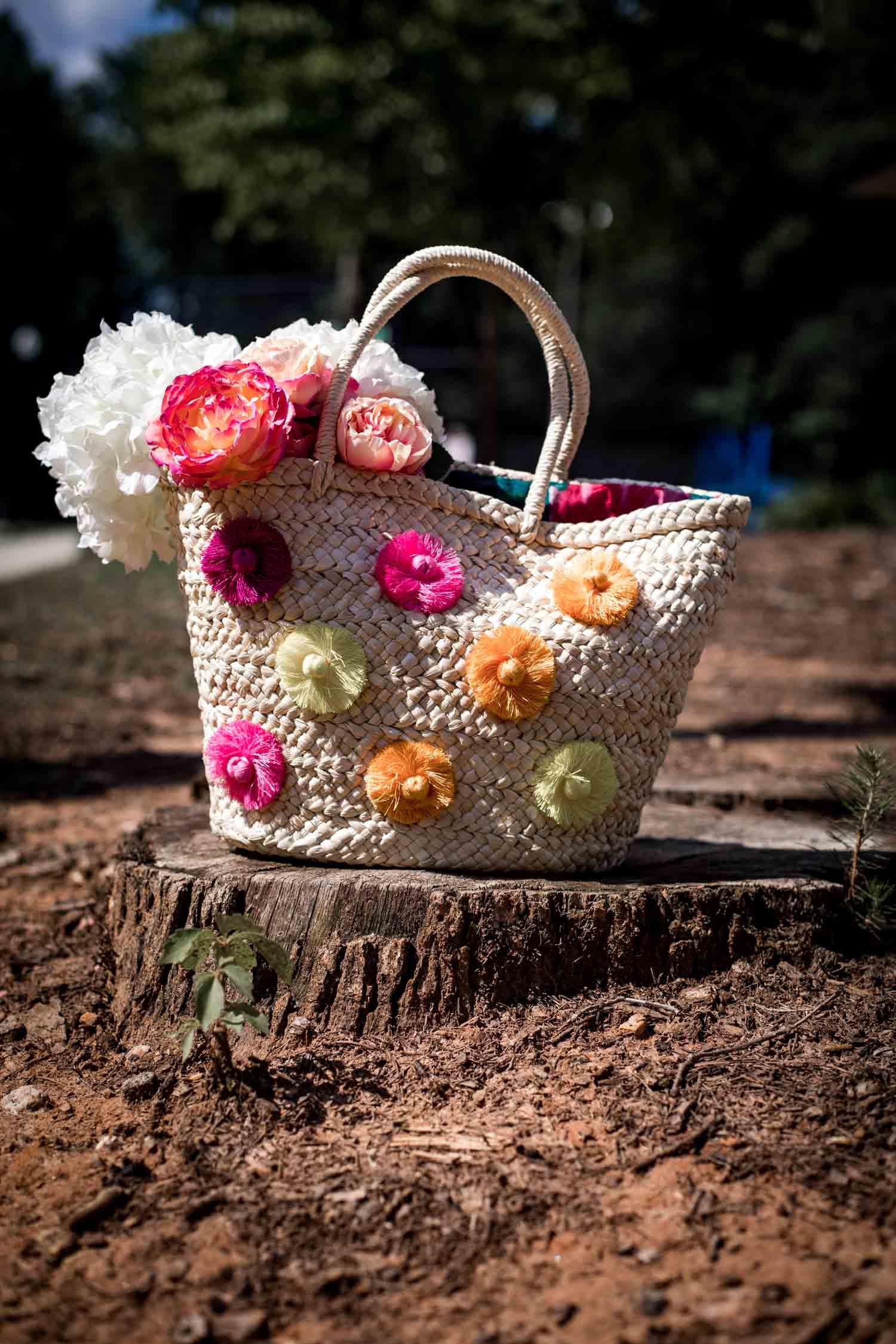 affordable and stylish straw bag styled by fashion and lifestyle blogger Monica Awe-Etuk