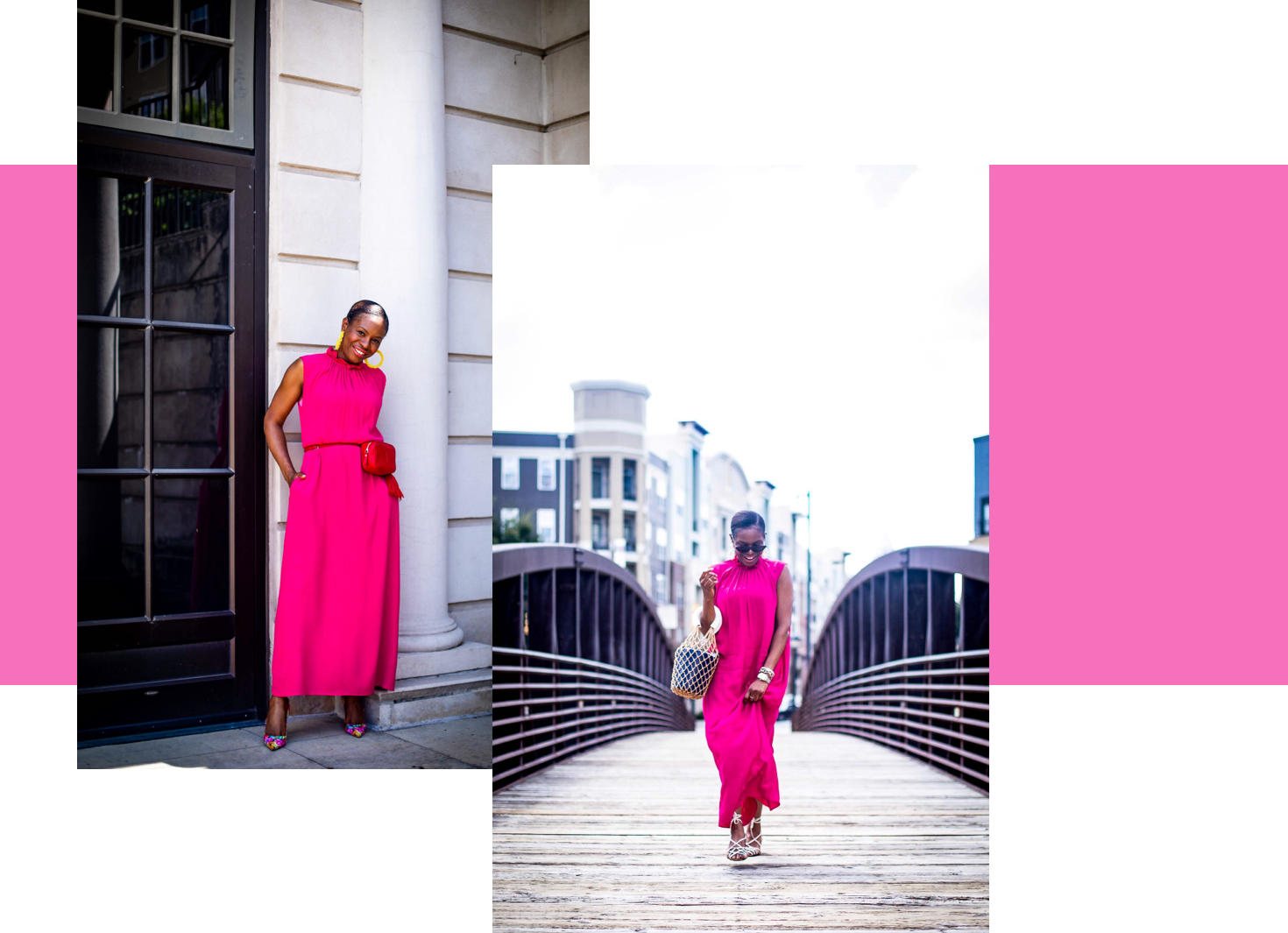 Fashion and Lifestyle blogger Monica Awe-Etuk shows you how to style pink other stories dress 2 ways