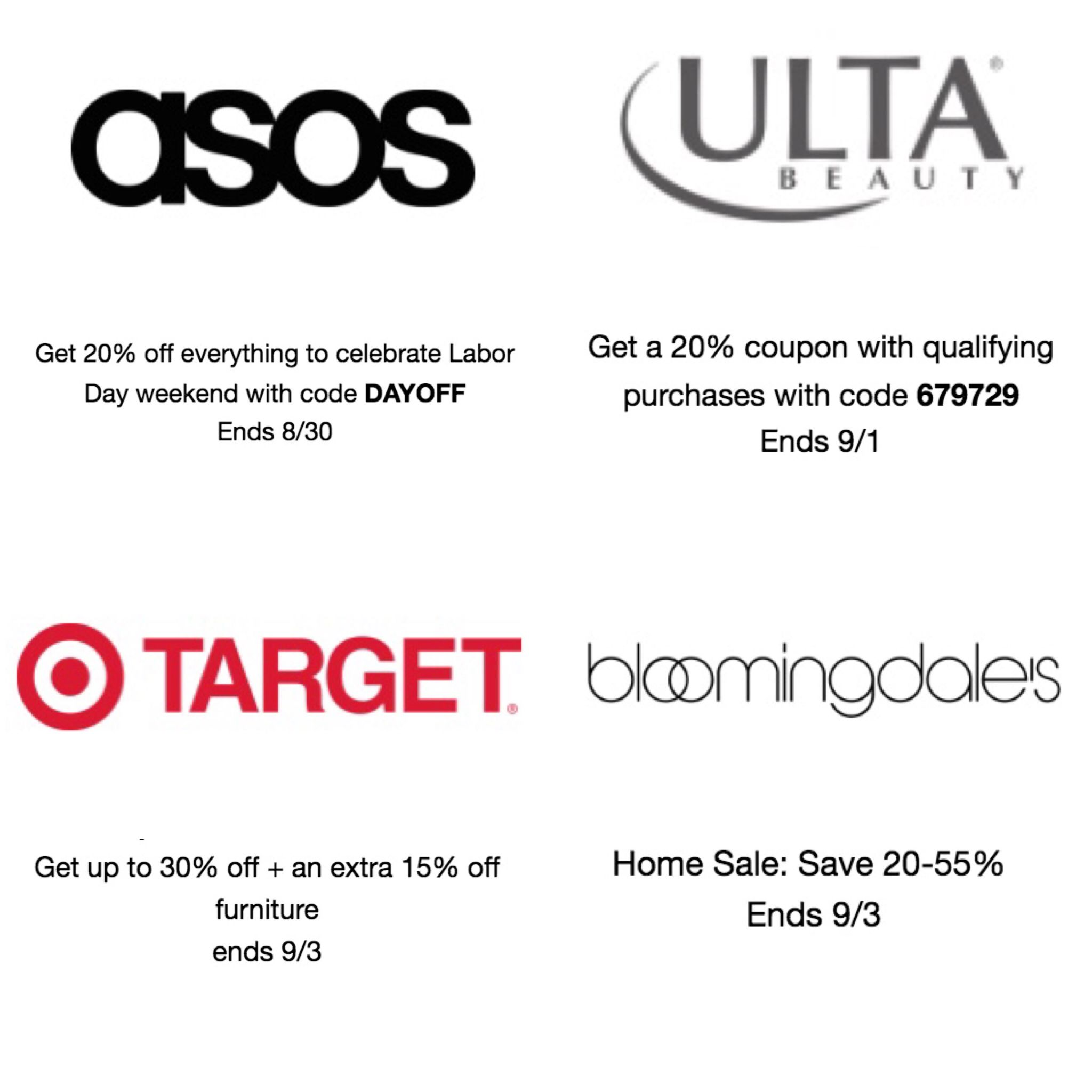 labor day sale discount codes