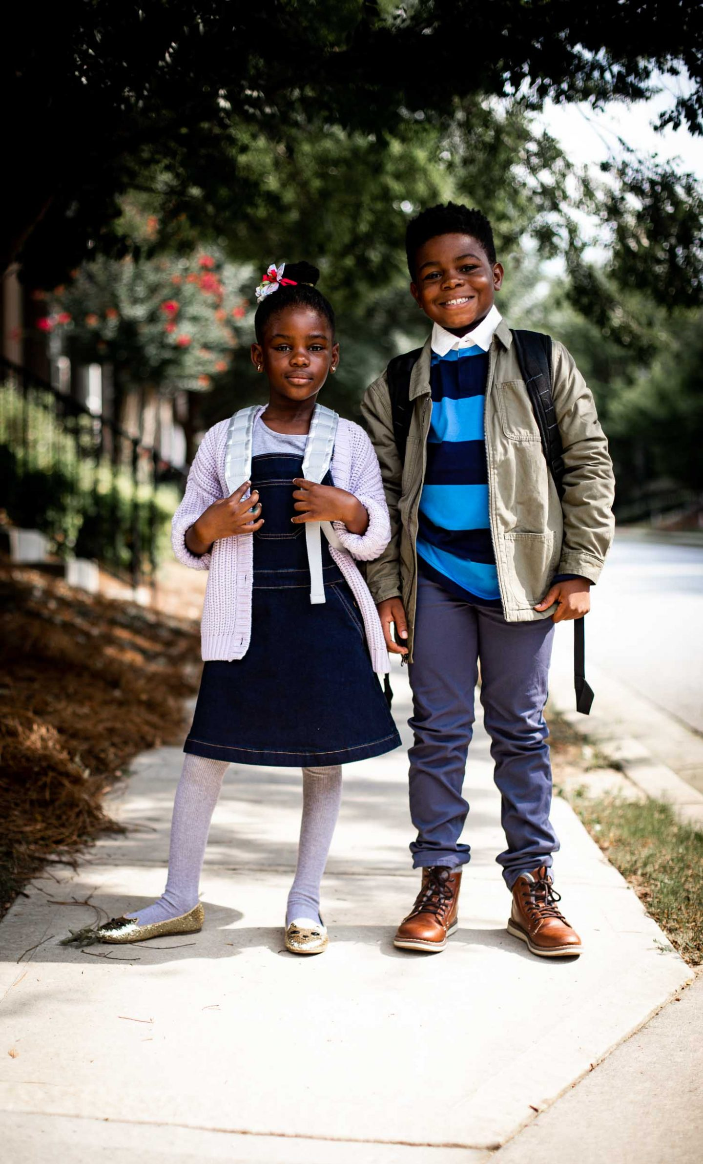 Atlanta fashion and lifestyle blogger Monica Awe-Etuk styles her kids in organic kids clothing from Hanna Andersson