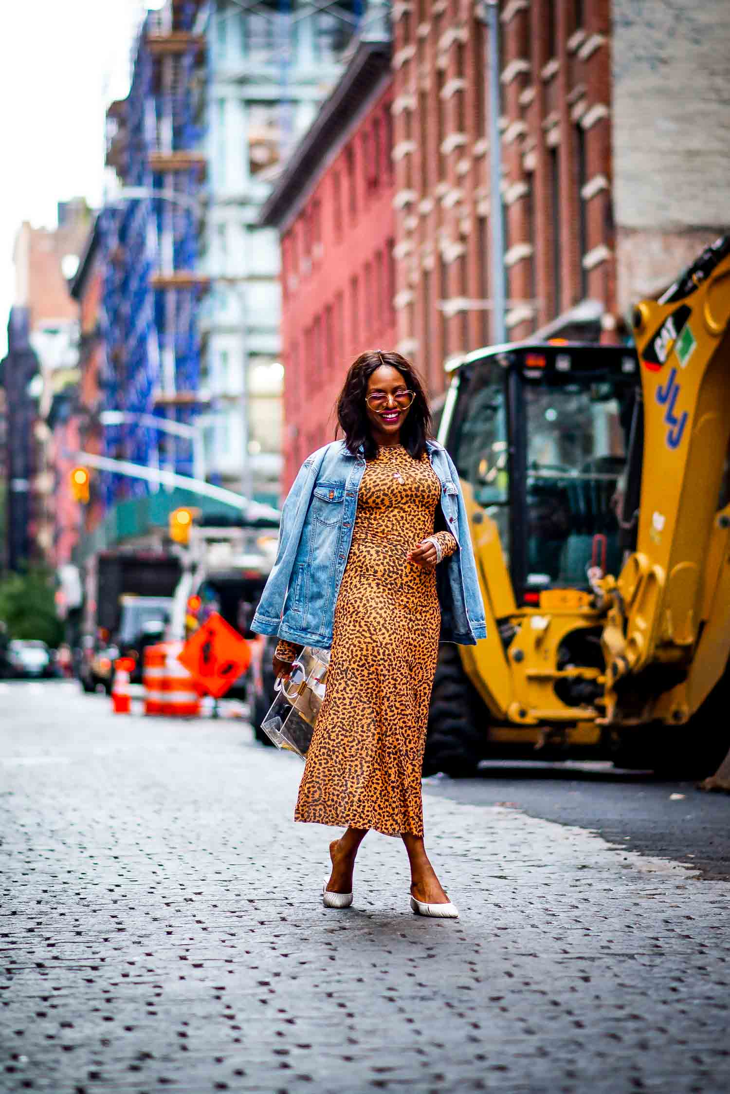 leopard print midi dress wore by Atlanta fashion blogger Monica Awe-Etuk