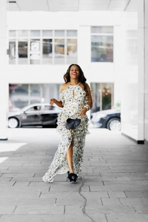 Lifestyle and fashion blogger Monica Awe-Etuk