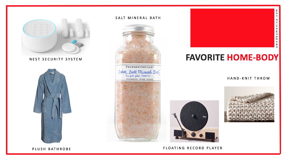 Atlanta blogger Monica Awe-Etuk selects holiday gifts for your favorite home-body