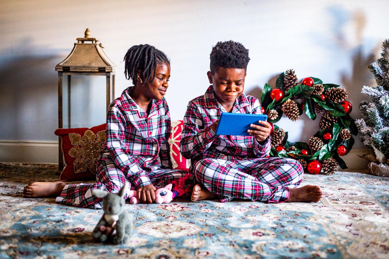 The cutest pajama sets from macy's. plaid kids pajama sets