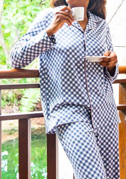 Atlanta blogger Monica Awe-Etuk explains why soma pjs make for the perfect holiday gift. gingham pajama set from soma intimates