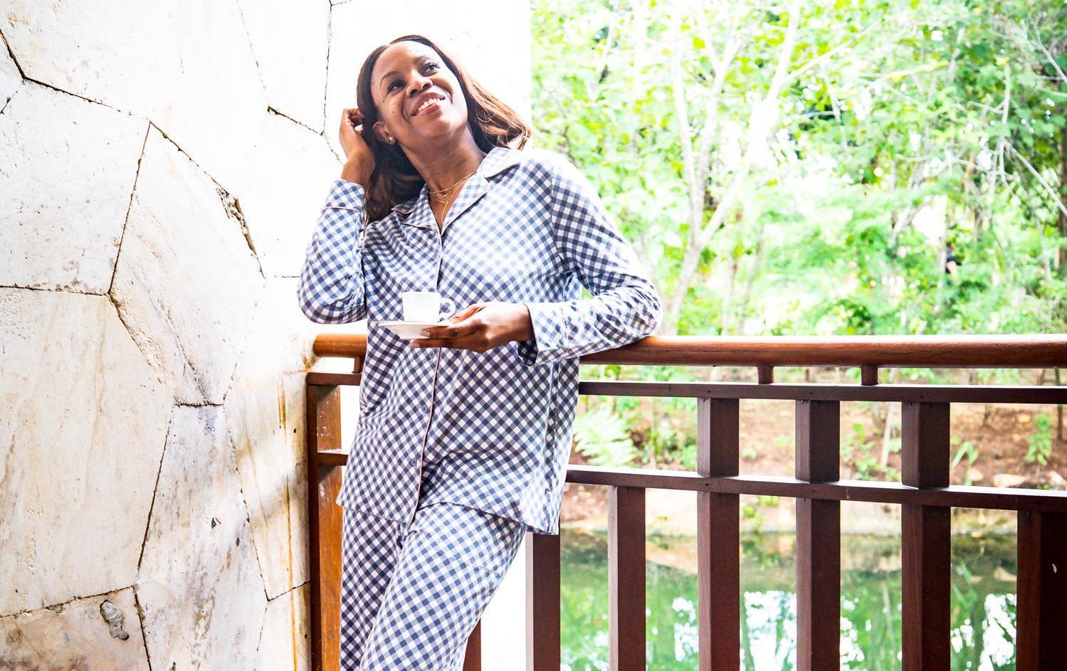 Atlanta blogger Monica Awe-Etuk explains why soma pj's make for the perfect holiday gift. gingham pajama set from soma intimates