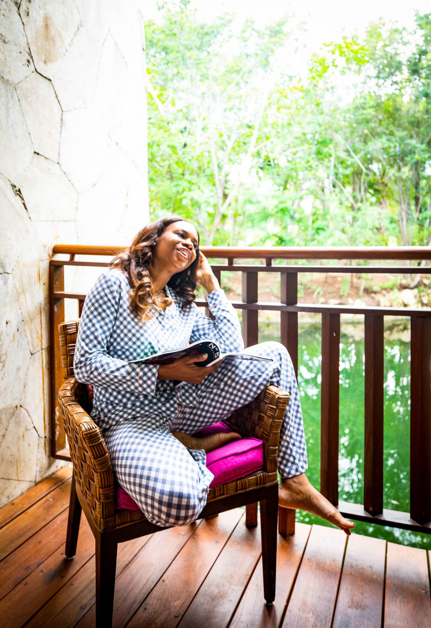 Atlanta blogger Monica Awe-Etuk explains why soma pjs make for the perfect holiday gift. gingham pajama set from soma intimates