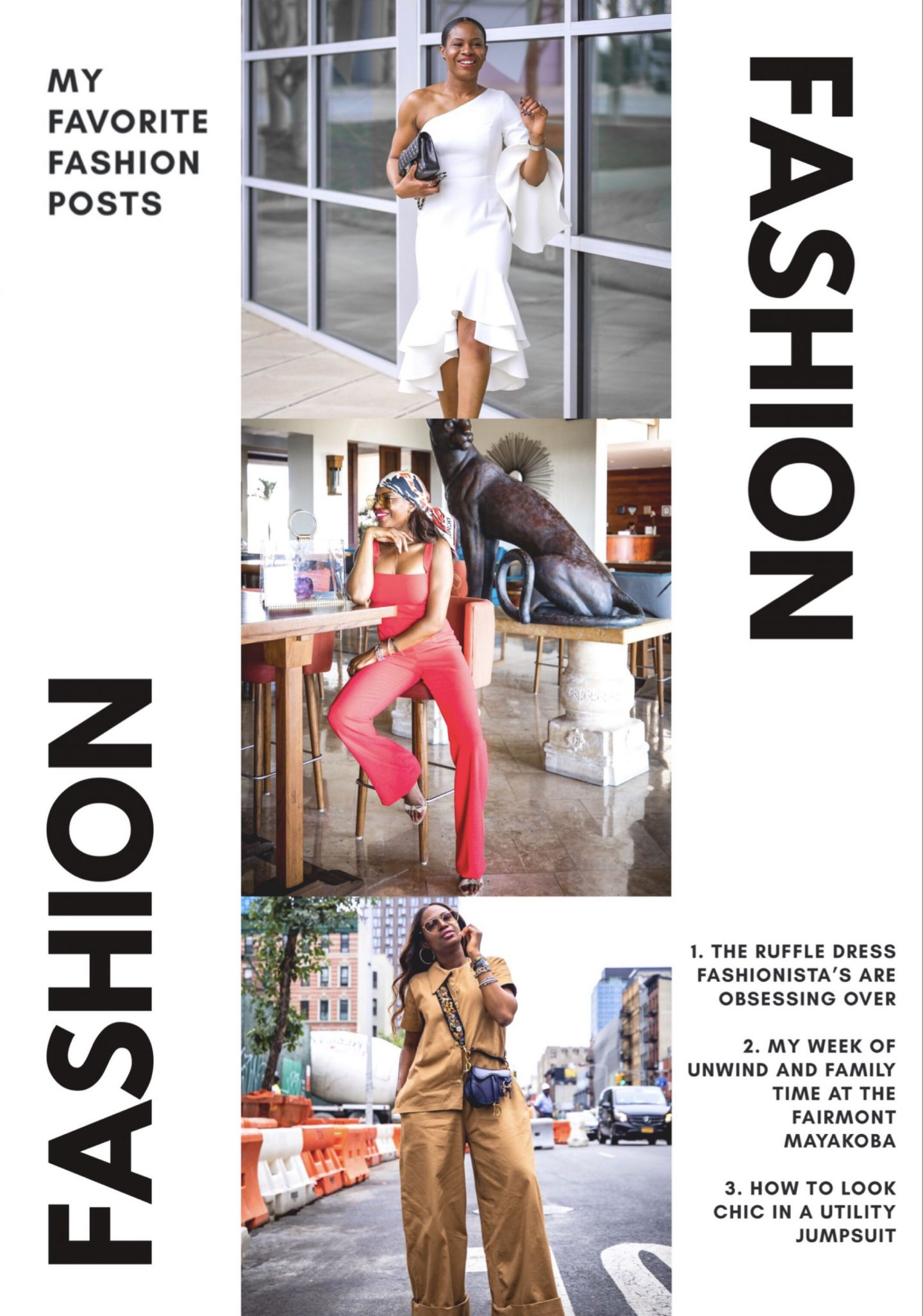 Best outfits from 2018. Top Atlanta fashion blogger Monica Awe-Etuk reviews collaborations and top post in 2018 and gives final notes on the year and what to expect in the new year