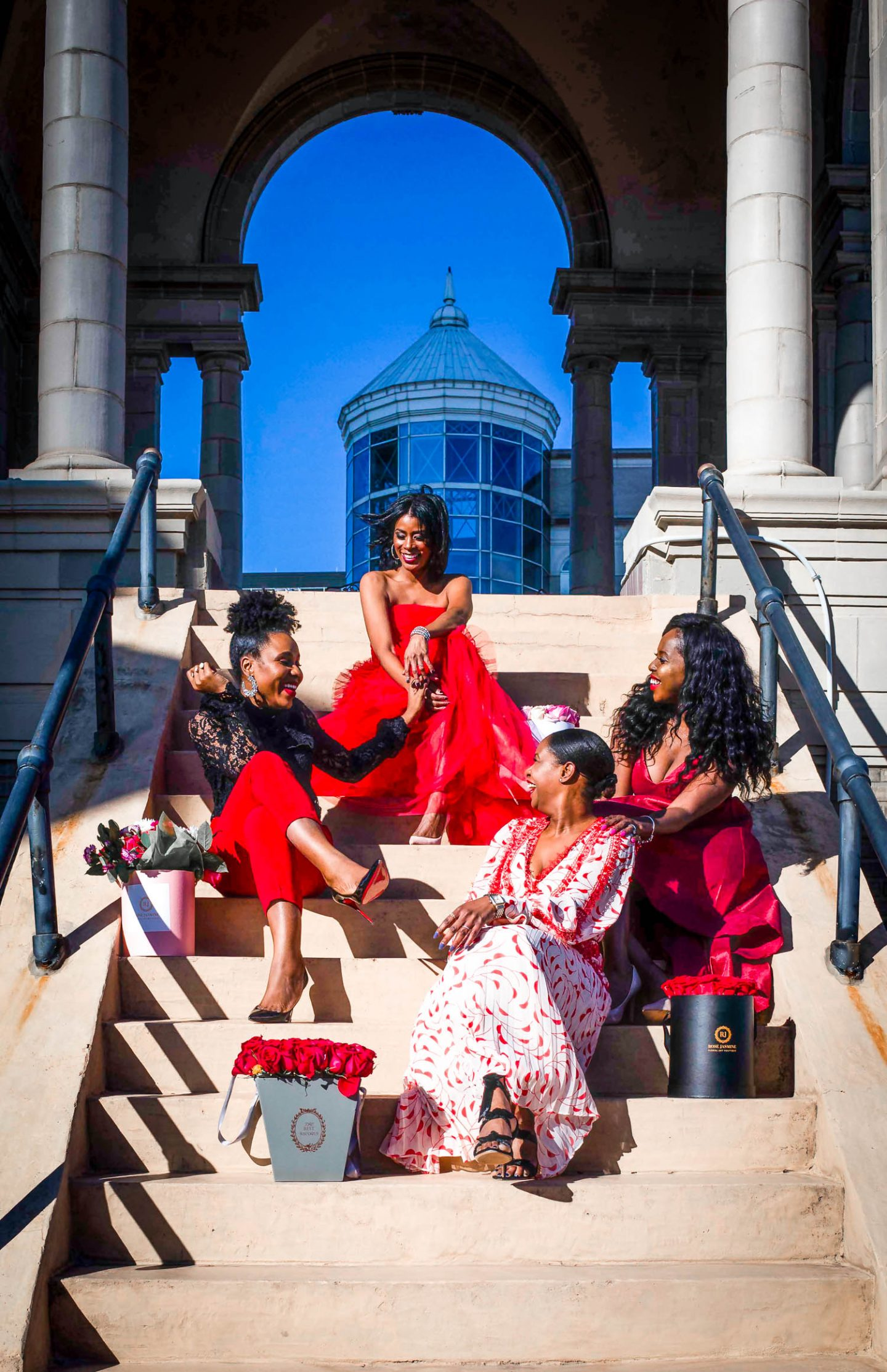 Atlanta lifestyle blogger Monica Awe-Etuk and top atlanta bloggers Titi's passion, eating with erica and Tomeka from Cherrypickedstyle create looks for galentines day and valentines day-3