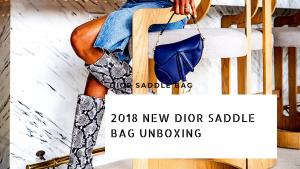 new dior saddle bag unboxing by atlanta blogger monica awe-etuk