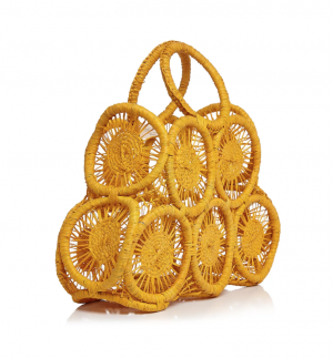 yellow straw bag for mother's day gift