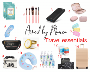 atlanta fashion blogger monica awe-etuk selects 14 travel essentials that will make your summer travels so much easier. all your travel essentials, what you need to pack for your next trip