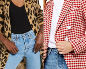 top shop red and white plaid blazer, leopard print dress on sale from the nordstrom anniversary sale #nsale , nordstrom anniversary sale