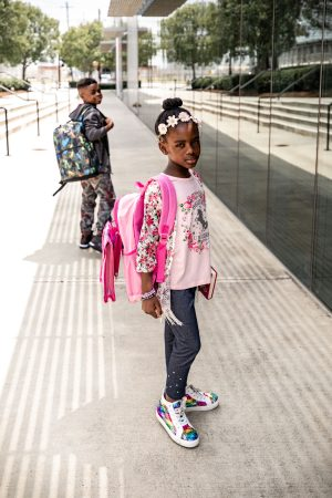 Atlanta fashion and lifestyle blogger monica awe-etuk's kids getting ready for bts with walmart, jojo siwa outfit and kids supplies at walmart, stylish kids outfits, back to school outfits, back to school, kids fashion, kids style