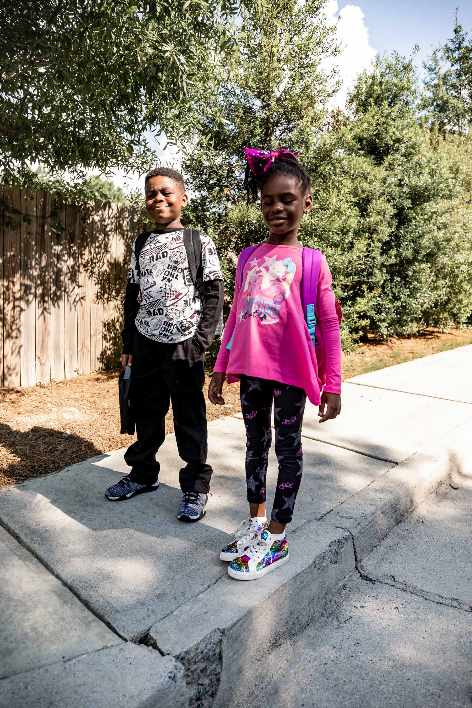 back to school supplies from walmart, Atlanta fashion and lifestyle blogger monica awe-etuk's kids getting ready for bts with walmart, jojo siwa outfit and kids supplies at walmart, back to schools supplies from walmart, bts, back to school supplies
