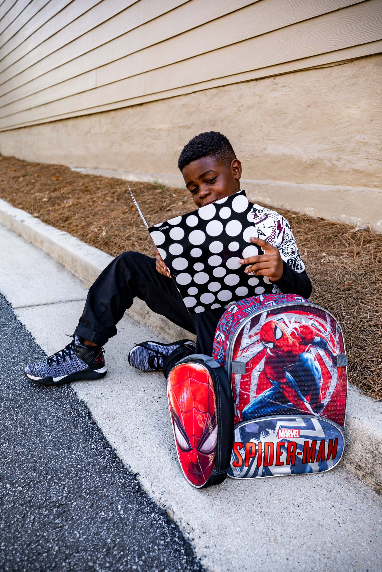back to school supplies from walmart, atlanta fashion and lifestyle blogger monica awe-etuk's kids getting ready for bts with walmart, jojo siwa outfit and kids supplies at walmart, back to school supplies