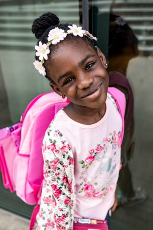 Atlanta fashion and lifestyle blogger monica awe-etuk's kids getting ready for bts with walmart, jojo siwa outfit and kids supplies at walmart-8