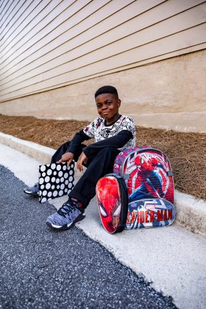 Atlanta fashion and lifestyle blogger monica awe-etuk's kids getting ready for bts with walmart, jojo siwa outfit and kids supplies at walmart