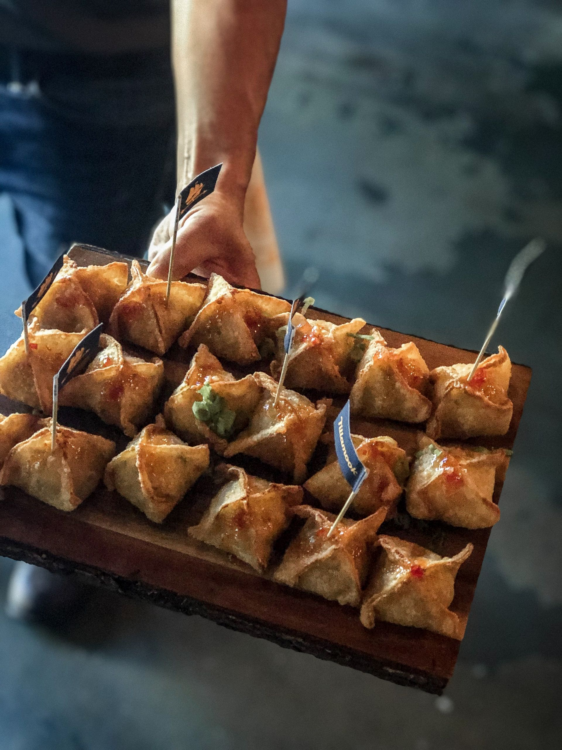 Sweet Auburn barbecue pimento cheese wontons, tillamook melty fest tour