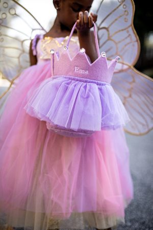 fashion blogger's kids wearing halloween costumes from pottery barn kids, best halloween costumes, panda costume, fairy costume, princess costume, costumes for kids, pottery barn halloween costumes for kids, how to pick the best costumes for kids