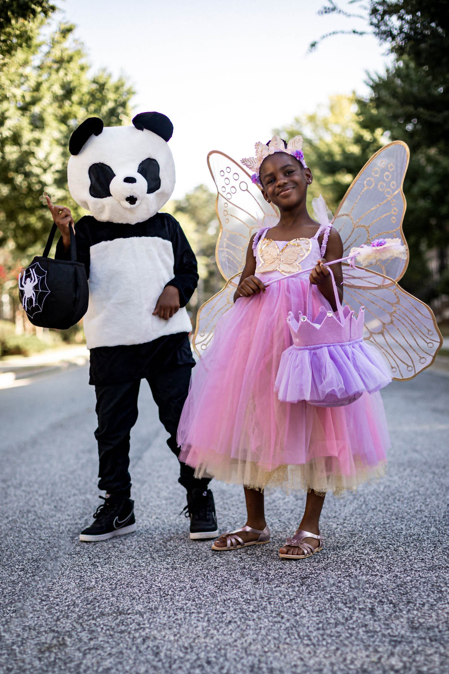fashion blogger's kids wearing halloween costumes from pottery barn kids, best halloween costumes, panda costume, fairy costume, princess costume, costumes for kids, pottery barn halloween costumes for kids, how to pick the best costumes for kids, kids halloween costumes, halloween kids costumes,