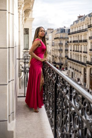 atlanta fashion blogger wearing burgundy satin gown in paris, the importance of getting a mammogram, my experience getting a mammogram, the truth about breast cancer, why you need to get a mammogram, cost of a mammogram, what you need to know before getting a mammogram, black women and breast cancer, why it's important to get a mammogram, does insurance cover mammograms