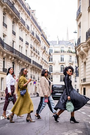black bloggers in paris during paris fashion week, what to wear to paris