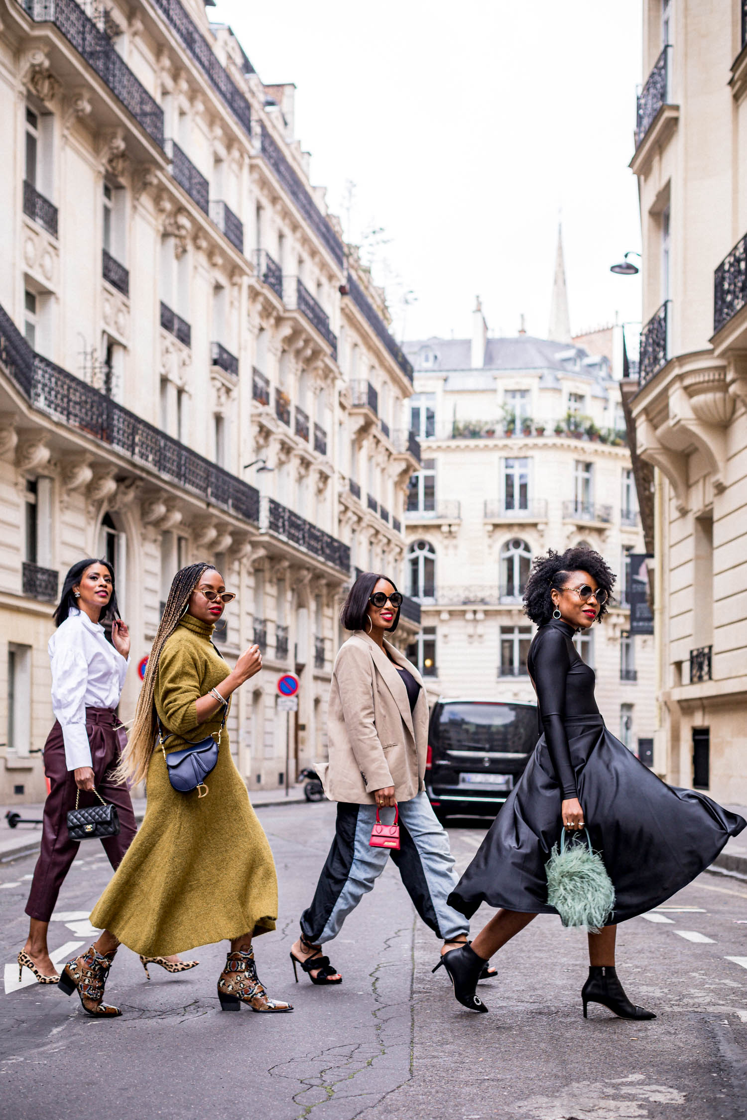 black bloggers in paris during paris fashion week, what to wear to paris