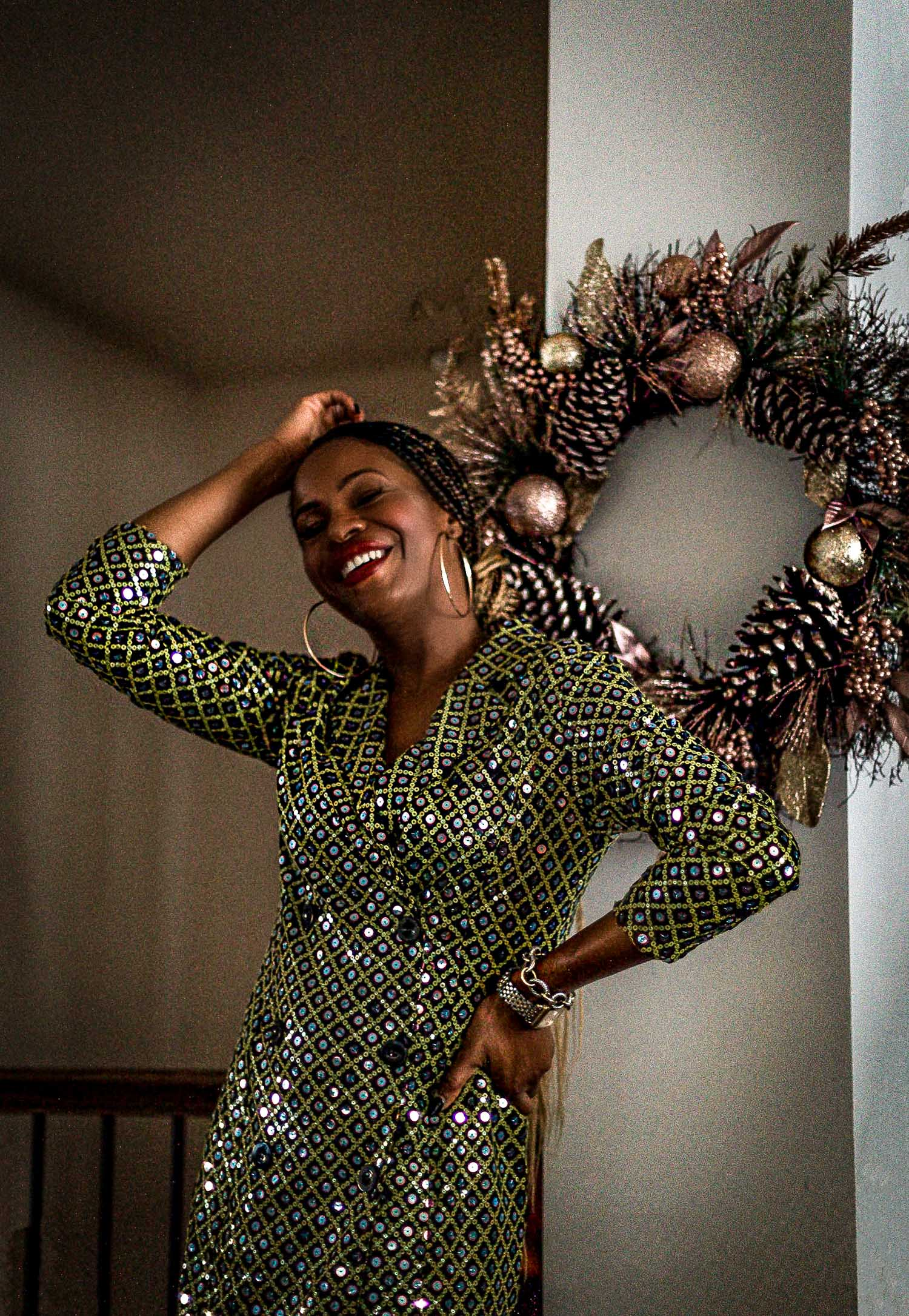 atlanta blogger wearing asos sequin blazer dress, what to wear this holiday season, asos, holiday dress, how to kick off the holiday season, holiday gift guide, holiday season, holiday starter guide, holiday entertaining, holiday decor, holiday season, holiday fashion