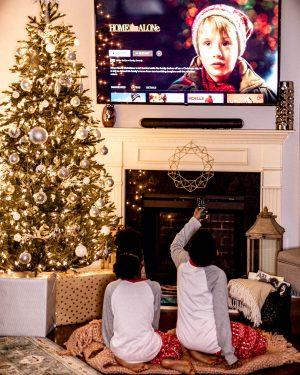 top atlanta blogger kids wearing matching pajamas discovers the benefits of having disney plus, disney +, give the gift of disney plus this holiday season