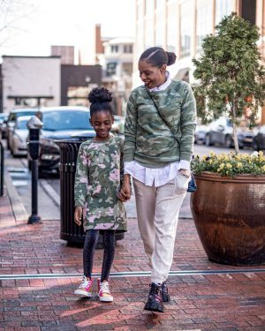 mommy daughter style in camouflage
