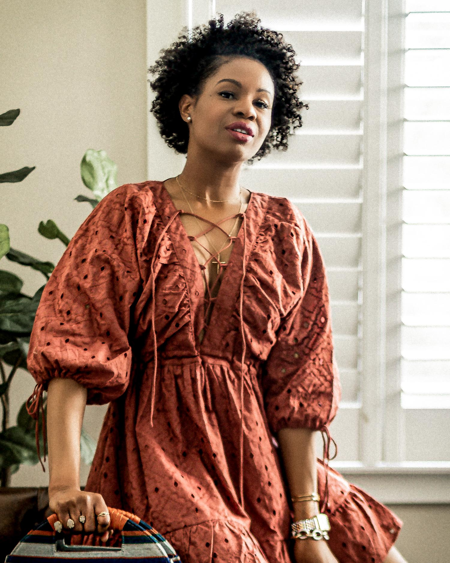 atlanta fashion blogger wearing red asos spring smock dress shares beauty secerts, here are the products I used to avoid wrinkles at 40, anti-aging, how to avoid wrinkles, what to do to avoid wrinkles at 40, no wrinkles at 40 this is what I use, best skincare products