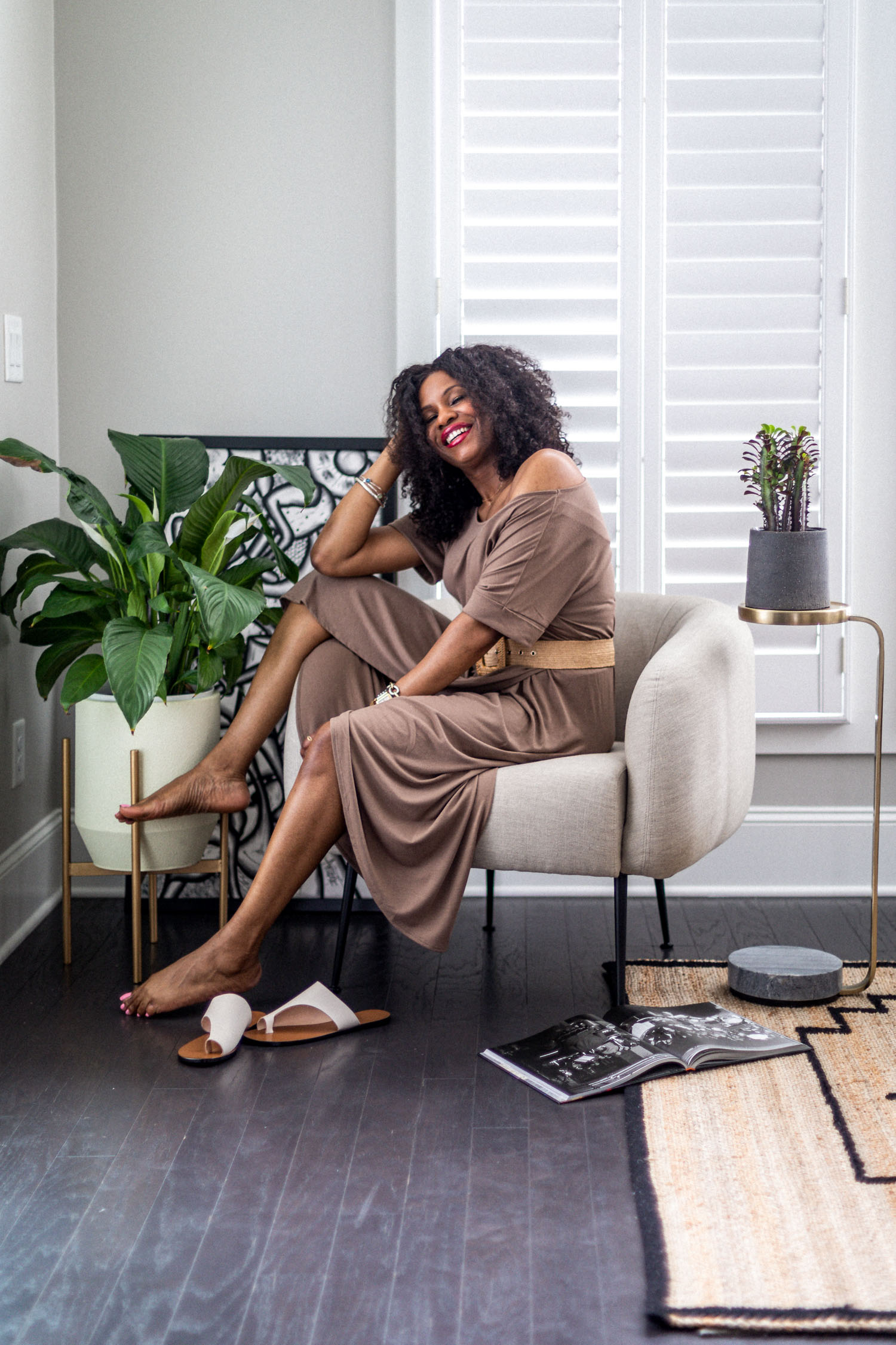 atlanta fashion blogger wearing loungewear dresses for summer, how to style your loungewear, how to style a loungewear dress, loungewear, how to look cute in loungewear, the best loungewear to wear at home, wrap dress, outfit inspiration, loungewear outfit inspiration