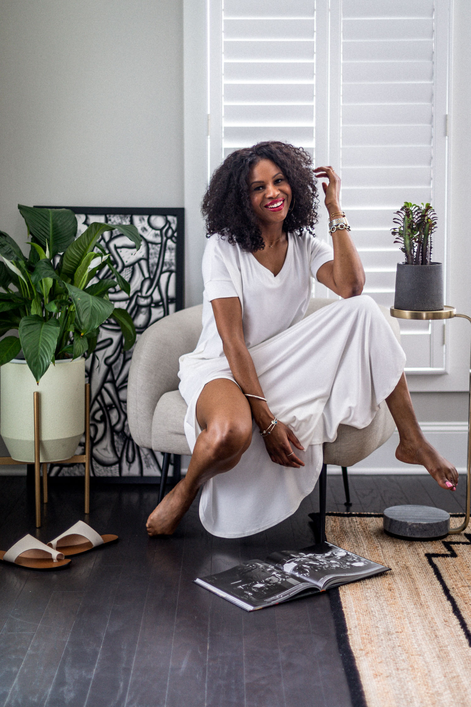 atlanta fashion blogger wearing loungewear dresses for summer, how to style your loungewear, how to style a loungewear dress, loungewear, how to look cute in loungewear, the best loungewear to wear at home, wrap dress, outfit inspiration, loungewear outfit inspiration, white loungewear dress, white dress, how to style a white dress, best white dress for summer
