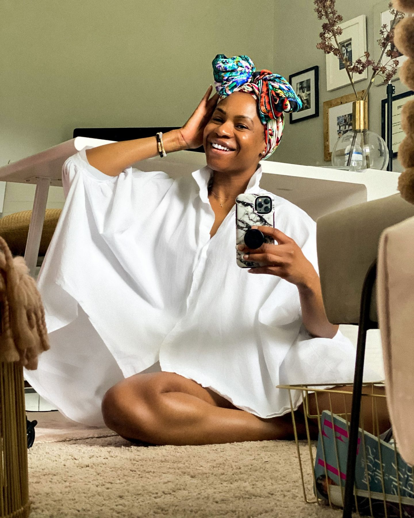 atlanta blogger shows you how to tie your headwrap, how to tie a bow headwrap, headwrap tutorial