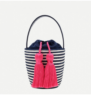 j.crew stripe bag