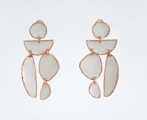 earrings, zara earrings, white earrings