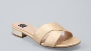 whbm gold slides, slippers
