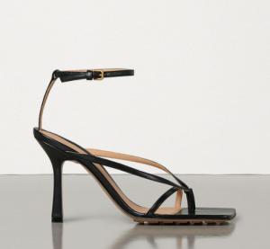 bottega stretch sandals, sandals, black sandals