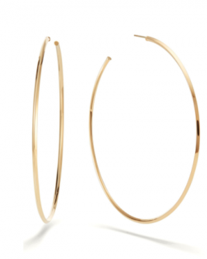 large gold lana hoop earrings, gold earrings, hoop earrings